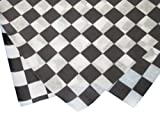 Durable Packaging Checkered Wax Sheets,12'' x 12'', Black (Pack of 5000)