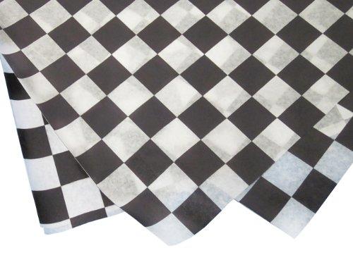 Durable Packaging Checkered Wax Sheets,12