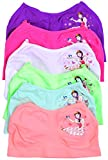 ToBeInStyle Girls' Pack of 6 Blue Bird Princess Seamless Training Bras - S