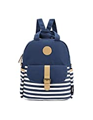 Qiaoshubao Women's Thickened Canvas Laptop Bag, Shoulder Backpack , School Backpack , Causal Style Handbag (dark blue)