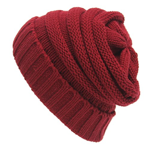 NUTEXROL Unisex Warm Fashion Winter Cable Knit Thick Slouch Beanie Hat Couple Cap - In 2012 Trends Fashion