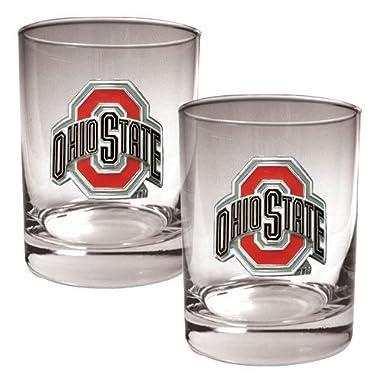 NCAA Ohio State Buckeyes Two Piece Rocks Glass Set
