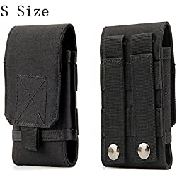 Tactical MOLLE Smartphone Holster, Universal Army Mobile Phone Belt Pouch EDC Security Pack Carry Accessory Kit Blowout Pouch Belt Loops Waist Bag Case For iPhone SE 5S Samsung Galaxy S4 mini