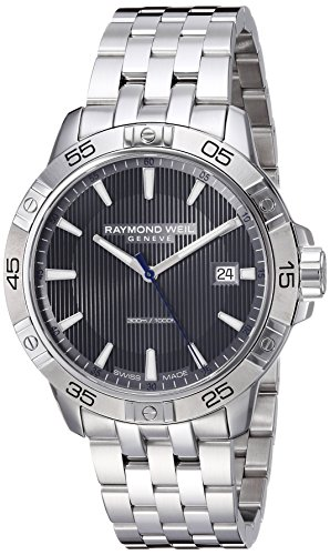Raymond Weil Men's 'Tango' Quartz and Stainless Steel Diving Watch, Color:Silver-Toned (Model: 8160-ST2-60001) (Wrist Date Weil Raymond Watch)