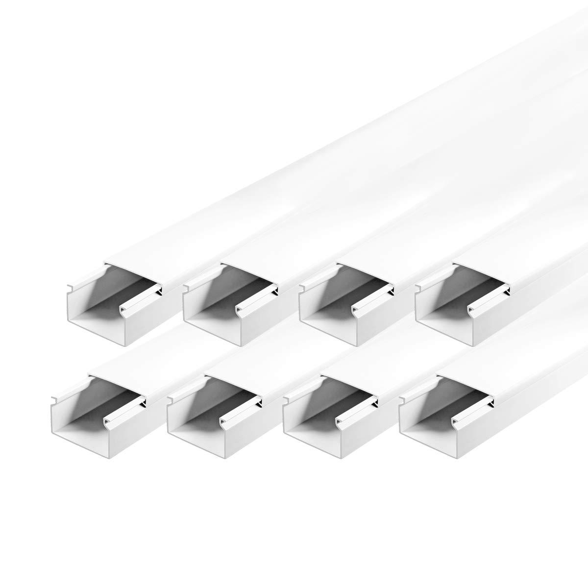 Kabelkanal schraubbar 40 x 25 mm PVC 8m Wand und Decken Montage