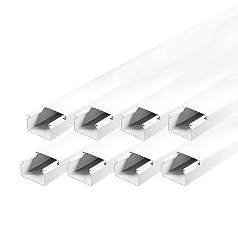 Kabelkanal Decke TV Kabelleiste Wand Bodenleiste PVC Selbstklebend Schraubbar