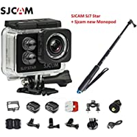 Original SJCAM SJ7 Star WiFi 4K 30FPS 2 Touch Screen Remote Action Helmet Sports DV Camera Waterproof Ambarella A12S75 Chipset+ SJCAM monopod