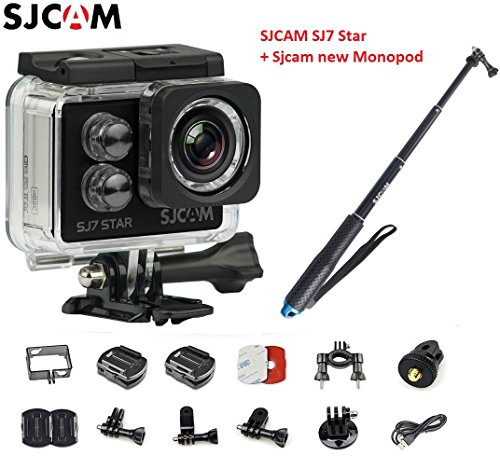 Original SJCAM SJ7 Star WiFi 4K 30FPS 2' Touch Screen Remote Action Helmet Sports DV Camera Waterproof Ambarella A12S75 Chipset+ SJCAM monopod