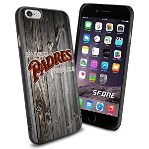 San Diego Padres MLB Blackwood Logo WADE5676 Baseball iPhone 6 4.7 inch Case Protection Black Rubber Cover Protector