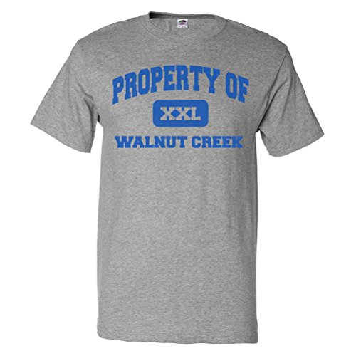 ShirtScope Property of Walnut Creek CA T shirt Funny Tee - Ca Creek Gift Walnut Shop