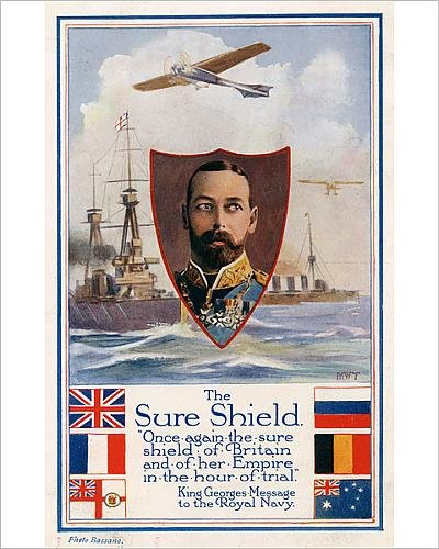 10x8 Print of WW1 - King George V - his message to the Royal Navy (11582287)