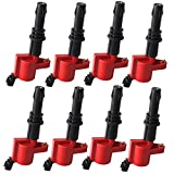 Carrep DG511 Red Ignition Coil Coils Pack (8) for Ford F-150 F150 F250 F350 F450 F550 Pickup V8 4.6l 5.6l