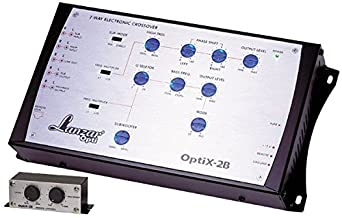 Lanzar OPTIX2B Optidrive 2 Way Electronic Crossover Network with Remote Bass Boost Level Control
