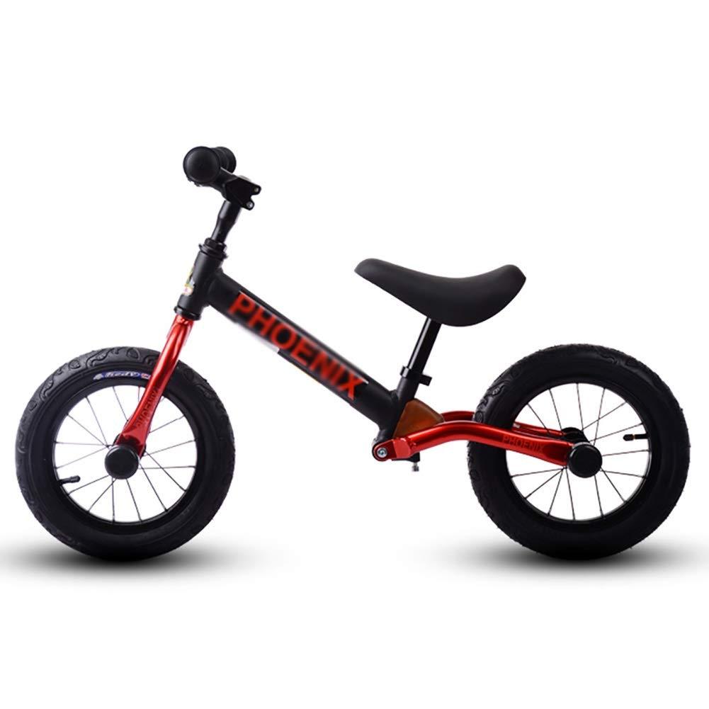 Bicicletta Senza Pedali Kids Balance Bike, Toddler Push Bike per Ragazzi e Ragazze, Alluminio a Pedale, Pneumatici Pneumatici da 12 Pollici