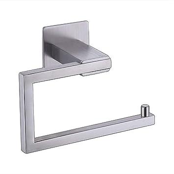 yoyokit SUS304 acero inoxidable – portarrollos de papel higiénico con teléfono estante para baño con textura