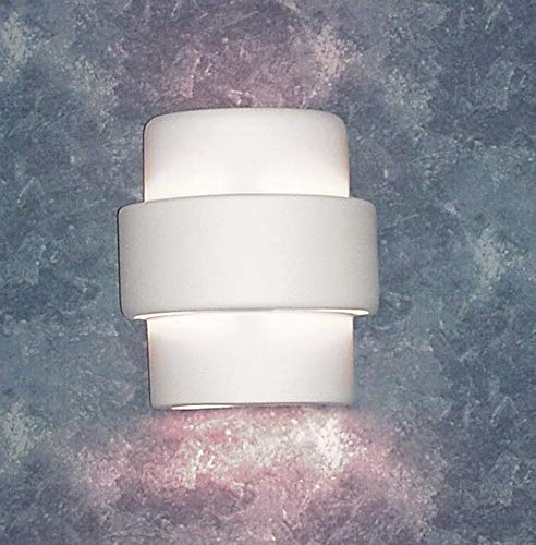 Luxury Lighting 120 - Ceramic Outdoor Wall Light - White Bisque Wall Sconce