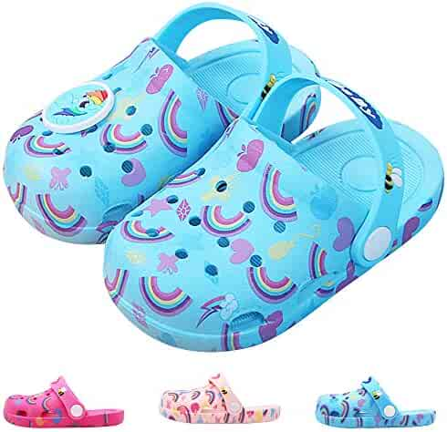 839bfa73a3bc Kids Boys Girls Comfort Unicorn Sandals Lightweight Slip On Water Shoes  Pool Garden Clogs Cute Summer