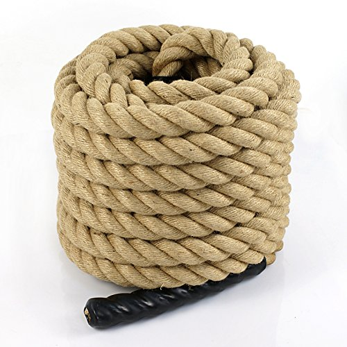 Super Deal Upgraded Manila Rope 1.5'' X 50 FT Fitness/Undualation Workout Climbing Jump Battle Rope 3 Strand w/Shirk End Caps (#4) by Super Dea (Image #9)