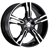 Platinum Saber 16 Black Wheel / Rim 5x100 & 5x4.5 with a 42mm Offset and a 73 Hub Bore. Partnumber 292-6718B