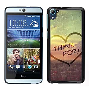 Impact Case Cover with Art Pattern Designs FOR HTC Desire D826 Love Thank For Betty shop