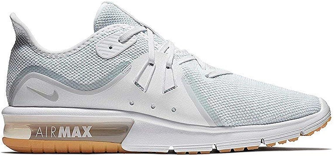 Amazon.com: Nike Air Max Sequent 3 para hombre, Blanco: Shoes