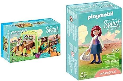 Amazon.com: PLAYMOBIL 9478 Spielzeug-Pferdebox Lucky ...