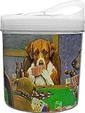 Dogs Playing Poker 1903 C.M.Coolidge Plastic Ice Bucket