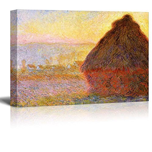 Claude Monet Haystacks in Morning Light Impressionist Art
