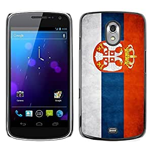 Shell-Star ( National Flag Series-Serbia ) Snap On Hard Protective Case For SAMSUNG Google NEXUS / I9250