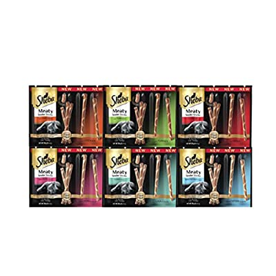 Cat Food GUMEW Sheba Cat Treats Meaty Tender Sticks Variety Pack [tag]