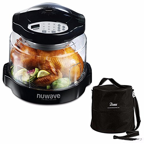 NuWave Oven Pro Plus with Black Digital Panel & Oven Carrying Case Customized Storage Bag With 2 Fitted Straps