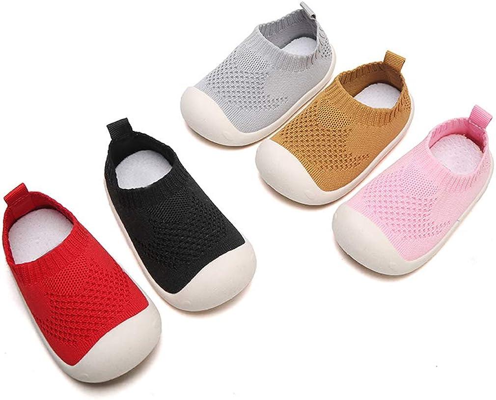 DEBAIJIA Beb/é Primeros Pasos Zapatos 1-4 a/ños Ni/ños Zapatos Ni/ños Ni/ñas Suave Suela Antideslizante Algod/ón Lona Malla Transpirable Ligero TPR Material Slip-on Zapatillas Deportivas Outdoor