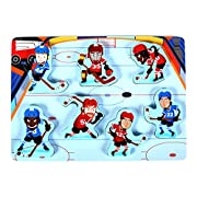 Cubbie Lee Fun & Unique Hockey Sport Chunky Wooden Puzzle for Toddlers, Preschool Age Kids w/Easy-Hold Colorful Solid Wood Pieces. Simple Educational & Sensory Learning for 1, 2 & 3 Year Old Children
