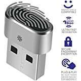 TNP USB Fingerprint Reader Scanner w/Smart ID Folder Encryption for Windows 7/8/10 Hello - Biometric Security PC Laptop Dongle
