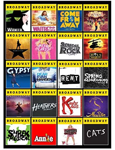 Broadway Theater Favorite Shows Custom Blanket - Favorite Broadway Shows Blanket- Personalized Blanket for your Theater Buff