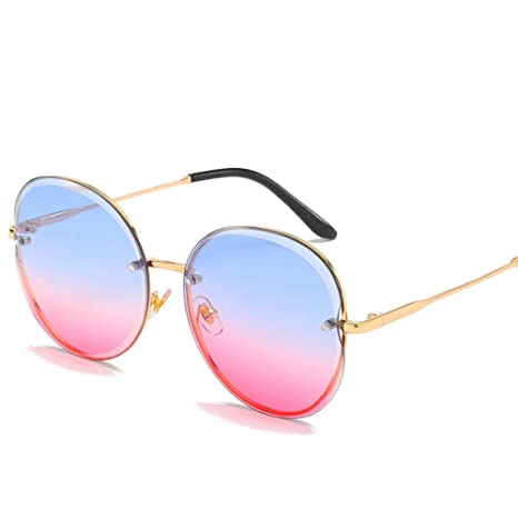 Yangjing-hl Gafas de Sol sin Marco para Mujer Gafas de Sol de Moda ...