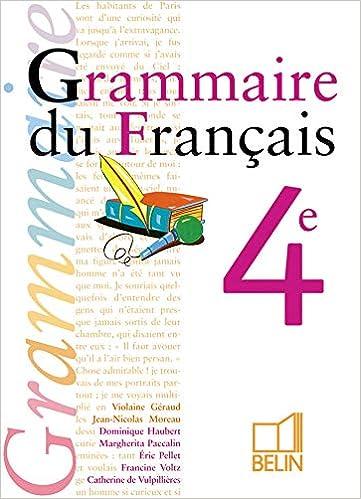Grammaire Du Francais 4e Livre De L Eleve Violaine