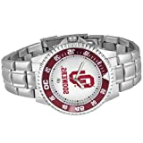 NCAA Oklahoma Sooners Men's Competitor Watch with Stainless Steel Band, Watch Central