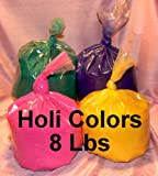 HOLI Colors 8 Lbs 4 colors (2lbs ea color) PINK, ORANGE, PURPLE, AND GREEN - SHIPS FROM LOS ANGELES 3 TO 6 DAYS DELIVERY