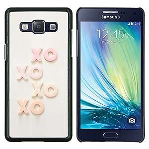 Stuss Case / Funda Carcasa protectora - Xo Besos texto Sweet Love Sweetheart - Samsung Galaxy A5 ( A5000 ) 2014 Version