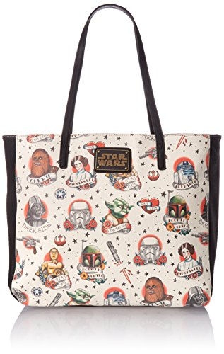 Star Wars Purse (Loungefly Star Wars Tattoo Flash Print Faux Tote Bag, Multi, One Size)
