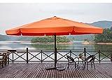Mefo garden 16.4Ft Market Aluminum Patio Umbrella Outdoor with Crank Handle and Telescopic Ribs, 250gsm, Orange