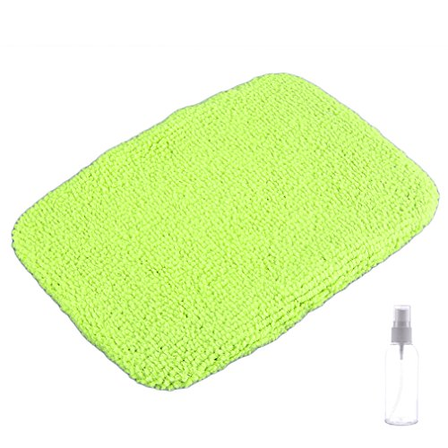 Stalwart Windshield Cleaner with Microfiber Cloth, Handle and Pivoting Head- Glass Washer Cleaning Tool for Windows
