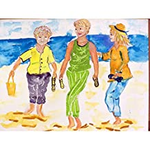 Betsy Drake DM415G Grandma At The Beach Doormat 30 x 50