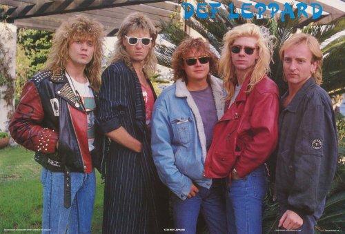 Def Leppard Poster 1980s Shot Sunglasses