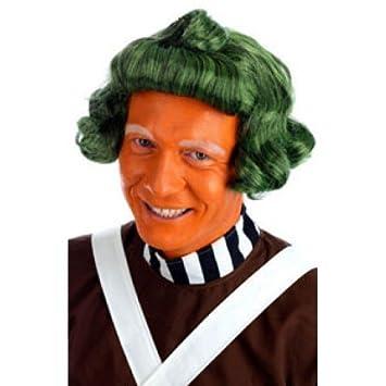 Hombre Mujer Adulto Verde Oompa Loompa Libro Día Peluca Disfraz Accesorio Traje