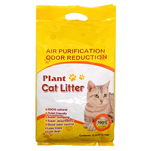 All-Natural Cat Litter Flushable Unscented Pellets Super Scoop Clumping Litter for Multi-Cat (Corn Cob Cat Litter)