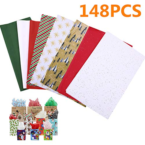 Christmas Tissue Paper Assortment Easy and Fast Gift Wrappin