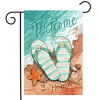 Amazon Com Helonge Summer Welcome Garden Flags 12 5 X 18 Inch