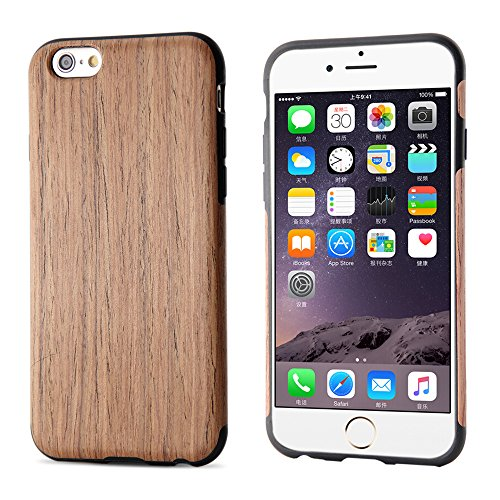 Iphone 6S Plus Case  Iphone 6 Plus Case  B Belk  Air To Beat   Slim Matte  Non Slip Wood Tactile Extra Grip Rubber Bumper  Extremely Light  Soft Wood Back Cover  Fingerprint Free Flex Tpu Case  Cherry